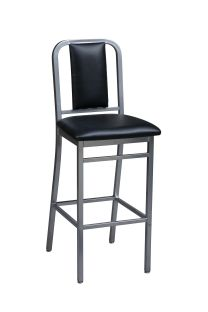 Regal 2575USB - Steel Frame Stationary Stool with Padded Back