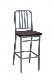 Regal 2575W - Steel Frame Wood Seat Stationary Stool