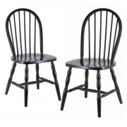 Winsome 29237 Black Chairs Set of 2