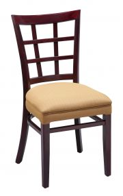 Regal 411UPH - Lattice Back Wood Dining Chair