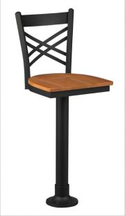 Regal 4515 Diner Stool Wood Seat