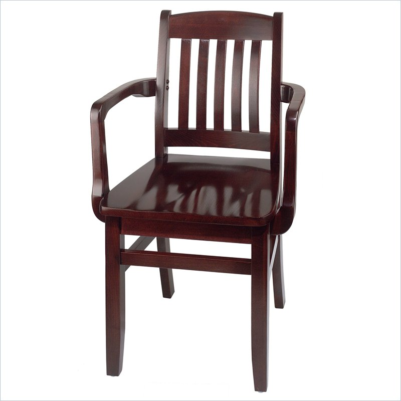 Holsag bulldog wood arm chair dining chairs by braniff for Wood dining chairs with arms