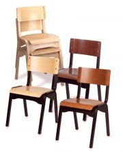 Holsag - Carlo Wood Stacking Chair