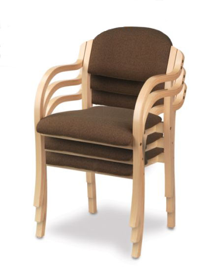 Holsag england wood arm stacking chair chairs