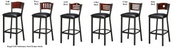 Regal 1316W - Metal Barstool