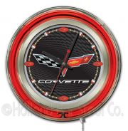 GM Neon Clocks 15 Inch (GM Colors: BlackSilver)
