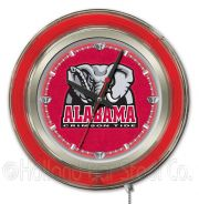 "NCAA Neon Clocks 15 Inch (NCAA Team: Alabama (""Elephant"" Logo))"
