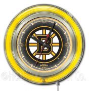 NHL Neon Clocks 15 Inch (NHL Team: Boston Bruins)