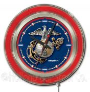 MILITARY Neon Clocks 15 Inch (Military: Marines)
