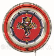 NHL Neon Clocks 19 Inch (NHL Team: Florida Panthers)