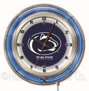 NCAA Neon Clocks 19 Inch (NCAA Team: Pennsylvania State University)